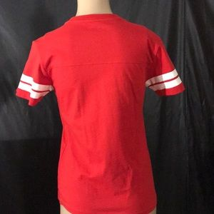 b4001be85bc57 True Religion Tops - 😍True Religion Red and White T-shirt Medium😍